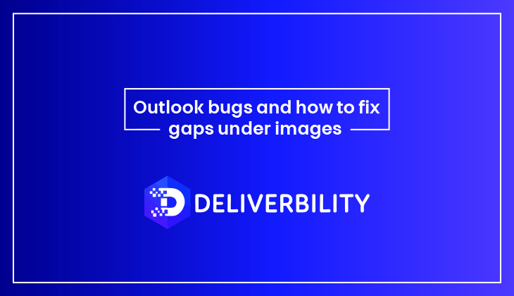 outlook bug and how fix gaps under images