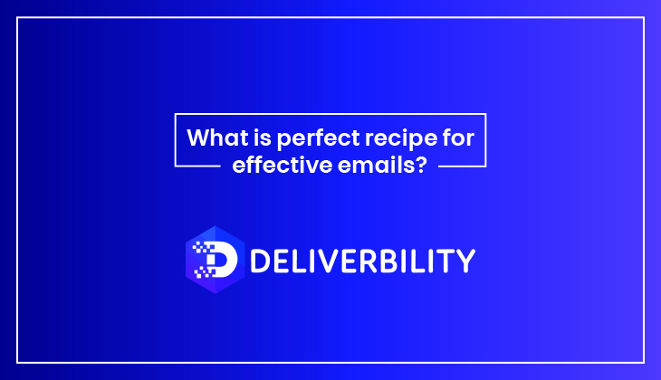 perfect recipe for effective emails