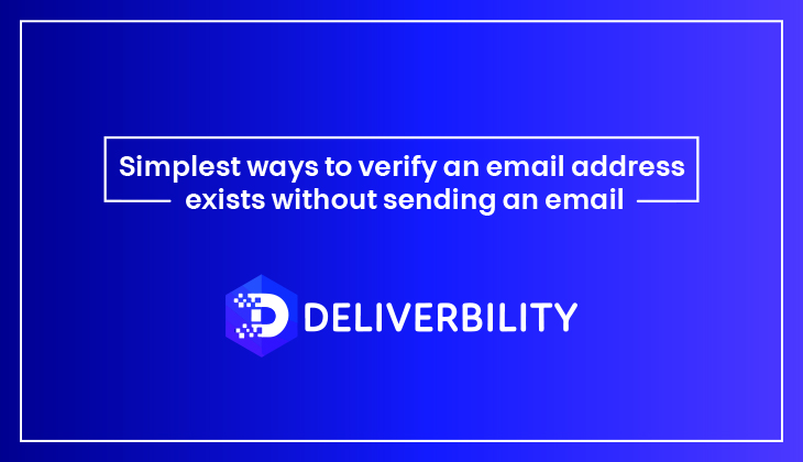 verify an email address exists
