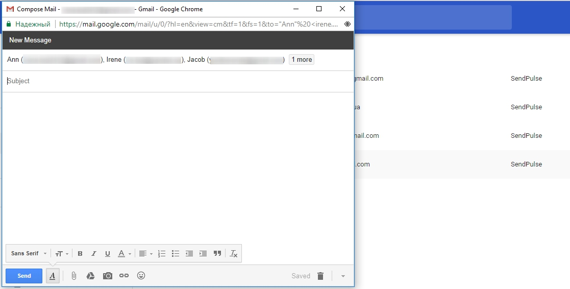 gmail create email