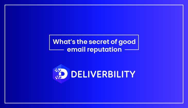 secret of good email reputation
